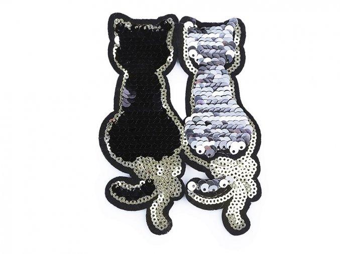 nažehlovačka silueta kočky 2