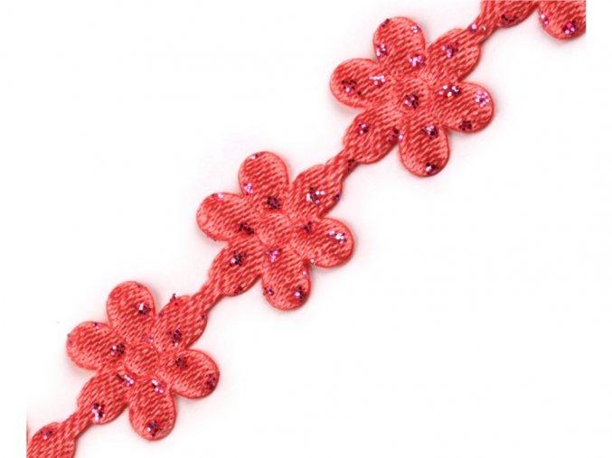 prýmek květy s glitry