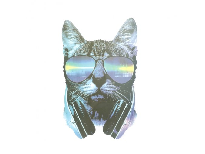 kočka sluchátka