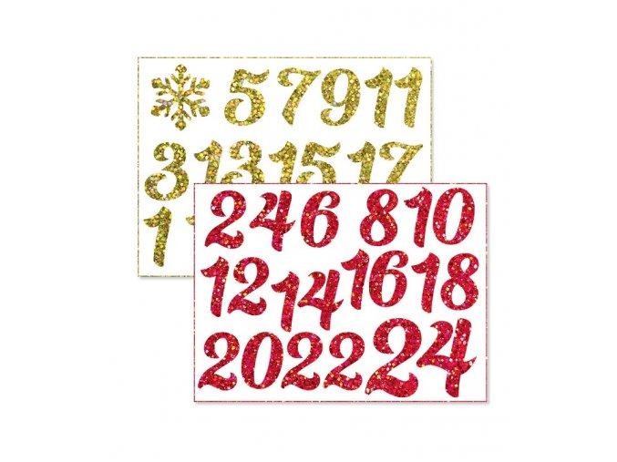 dvoubarevna cisla na adventni kalendar