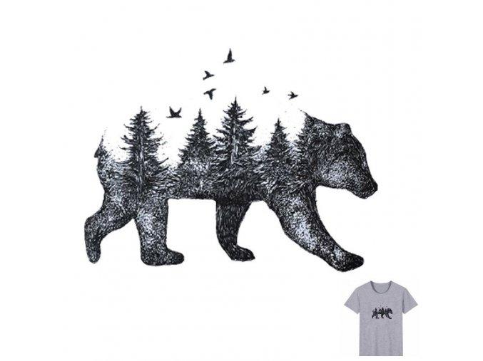 medvěd stromy