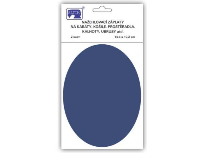 zaplaty oval tmave modra