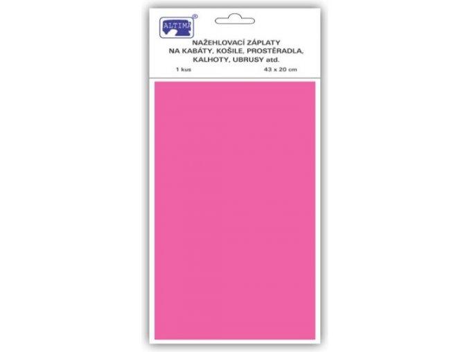 Klasické záplaty jednobarevné barva růžová
