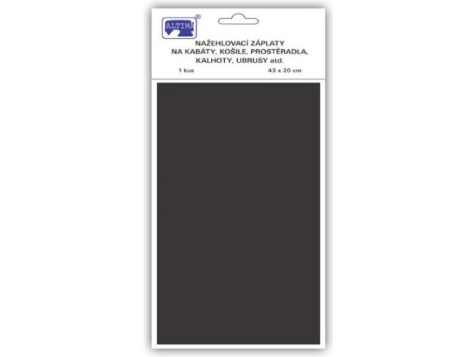 Klasické záplaty jednobarevné barva černá