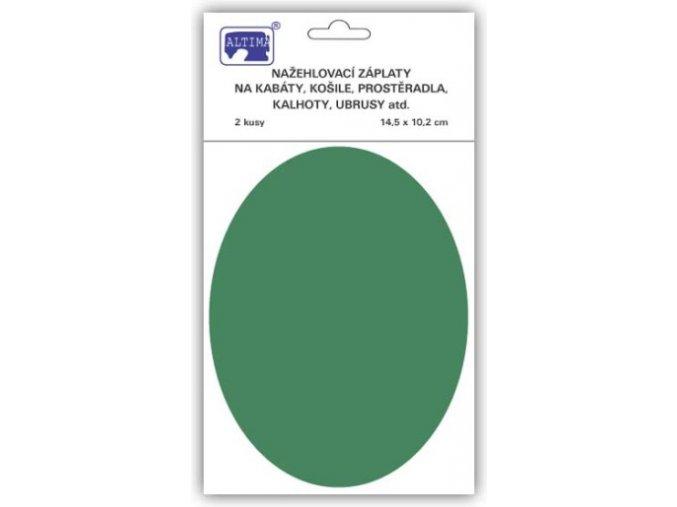 Jednobarevné ovály tmavě zelená