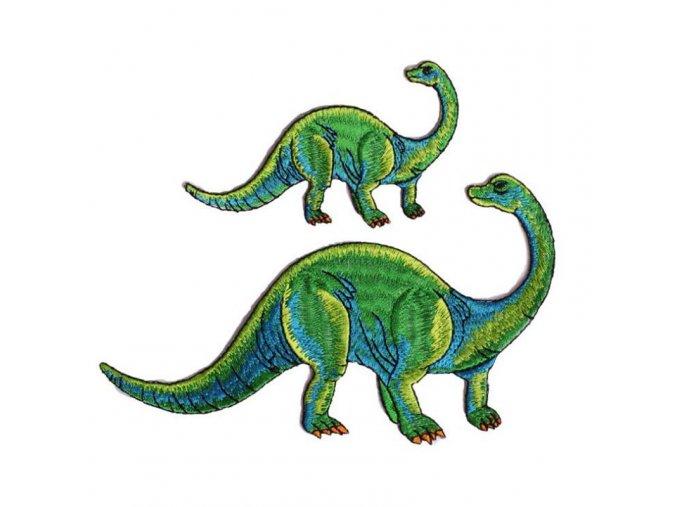 dinosaurus zelený velký a malý