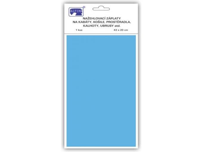 Klasické záplaty jednobarevné barva světle modrá