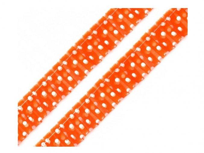 prýmek oranzovy s puntikem
