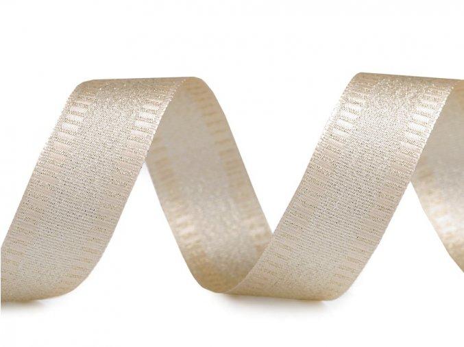 stuha zlata lurex 25 mm
