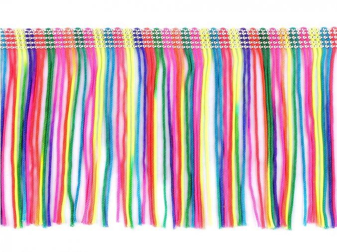 třásně barevné šíře 10 cm