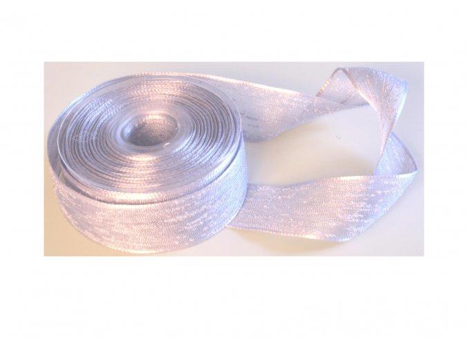 stuha stříbrná 40 mm 2