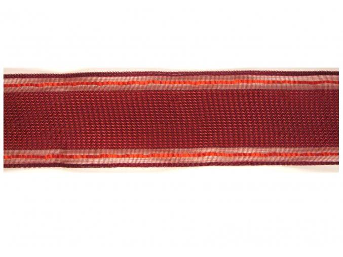 stuha plátnová červená s monofilem, 40 mm