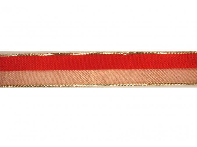 stuha červenozlatá, 25 mm