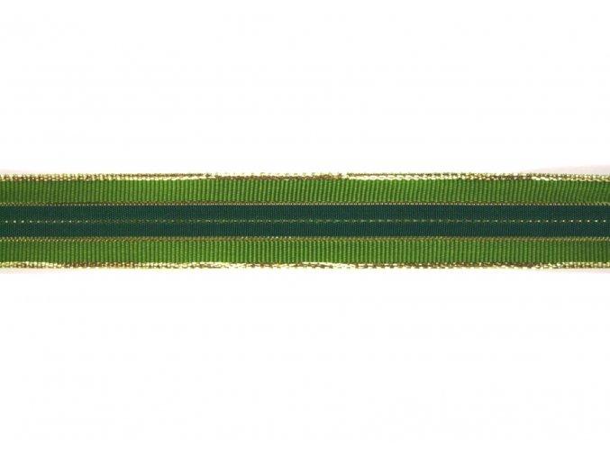stuha zelonozlatá, 25 mm
