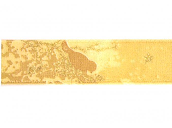 stuha bezovozlata s ptacky, 25 mm. 2