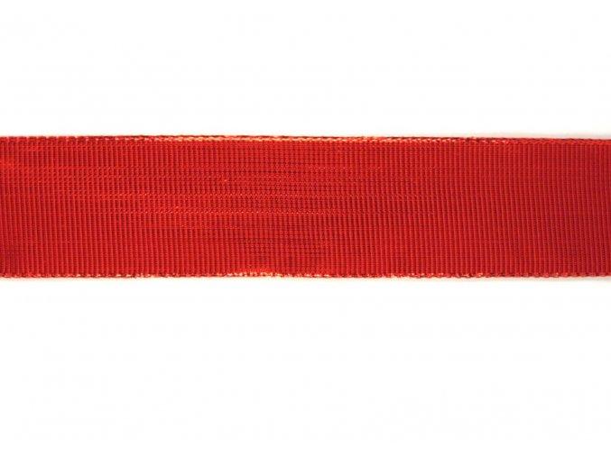stuha červena lesklá, 40 mm