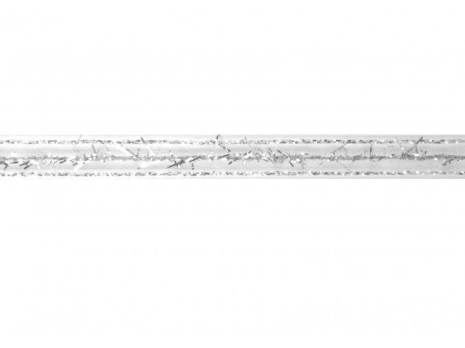 stuha stříbrná, 10 mm