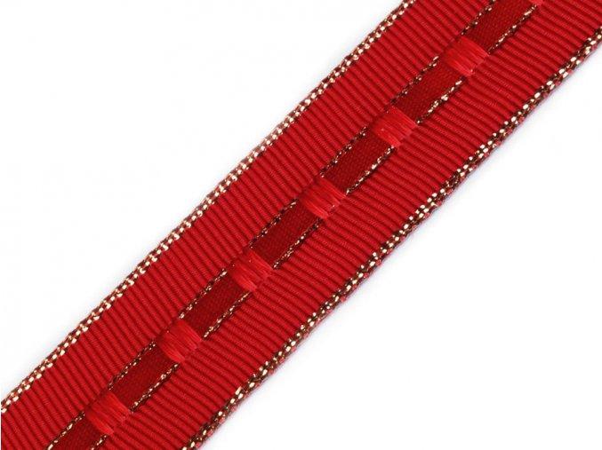 řasící stuha červená