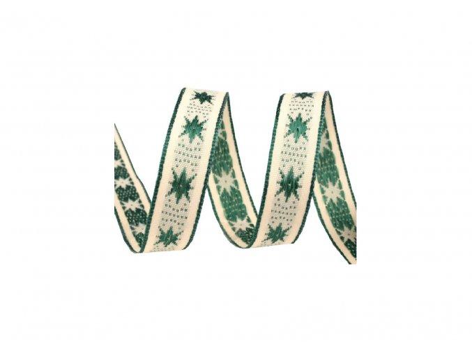 stuha zelené hvězdy, 25 mm