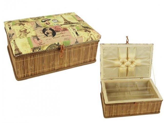 kazeta na siti bambus textil obdelnikova