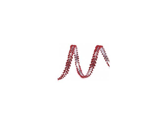 prýmek strříbrná červená