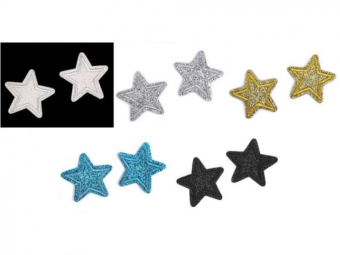 nažehlovačka hvezdy s glitry