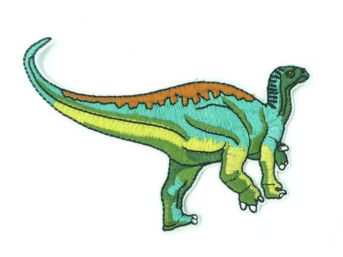 nažehlovačka dinosaurus zelenotyrkysový