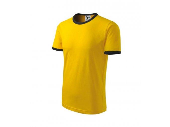 Tričko infiniti žluté