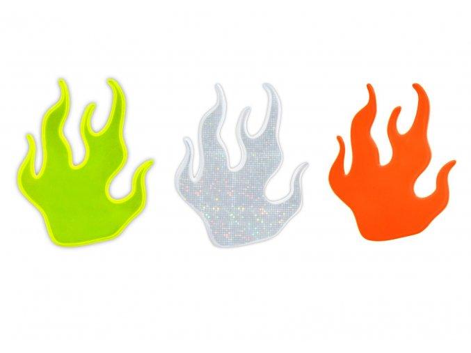 reflexní nálepka plamen mix