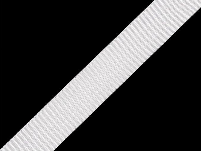 popruh polyester 10 mm bily