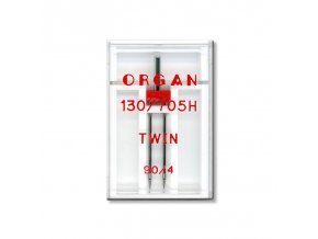 strojove jehly organ twin 130705 h 90 40 1ksplastova krabicka