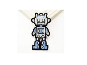 robot sedomodrý 2