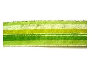 stuha zelenozlata pruhy