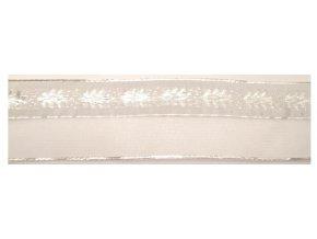 stuha bílá stromecky monofil 40 mm