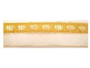 stuha zlata stromek monofil 40 mm