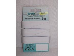 Pruženka prádlová bílá šíře 17.4 mm, délka 5 m