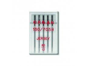 strojove jehly organ jersey 130705h 80 5ksplastova krabicka