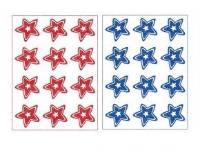 hvezdy modra cervena mix