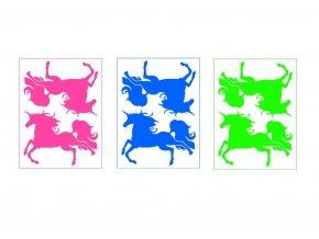 Nažehlovací neonový obrázek - Koně