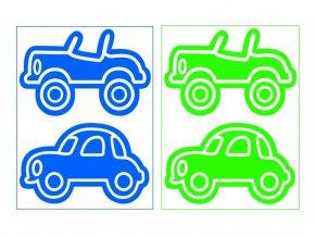 auta modro zelený mix