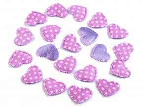 srdce fialova