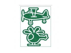 letadlo zelená