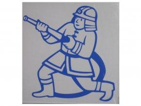 hasič modrý