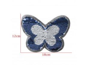 motýl modrostříbrny