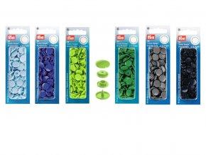 Plastové patentky Prym Color Snaps, kulaté