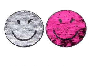 usmevacek rozovo stribrny
