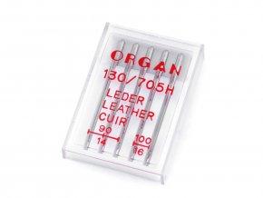 Strojové jehly Organ leather mix velikostí