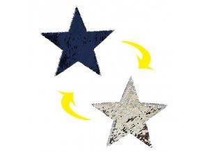 hvezda modro stribrna