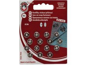 patentky 9 mm stříbrné