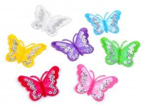 motýli s flitry